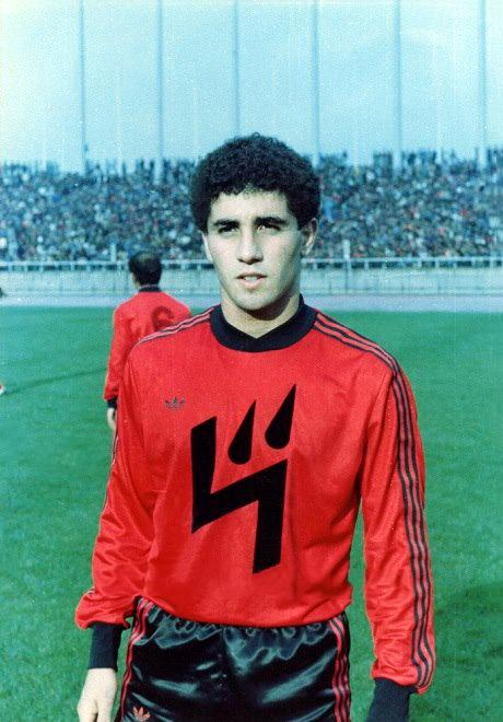 Salim Boutamine sous le maillot de l'USMA en 1983.