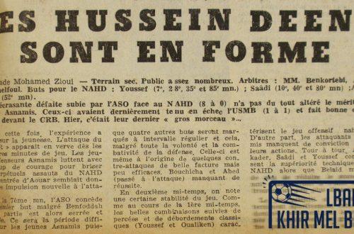 Le match NAHD-ASO en 1964.