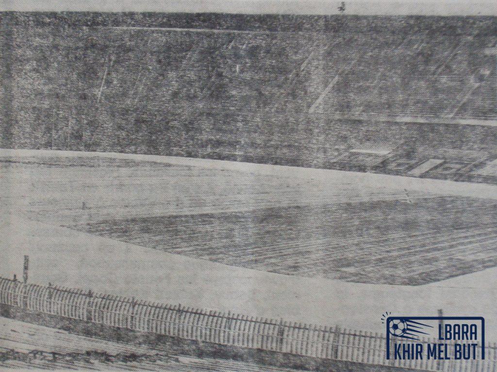 La fin des travaux au stade du 5-Juillet-1962 en juillet 1981.